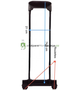 Poignée télescopique 1 position PT388 noir