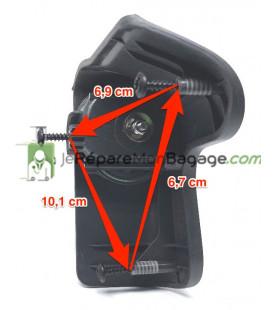 roue de bagage - réparation