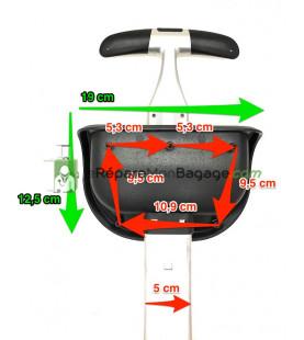 Support inférieure de bagage SI183 noir