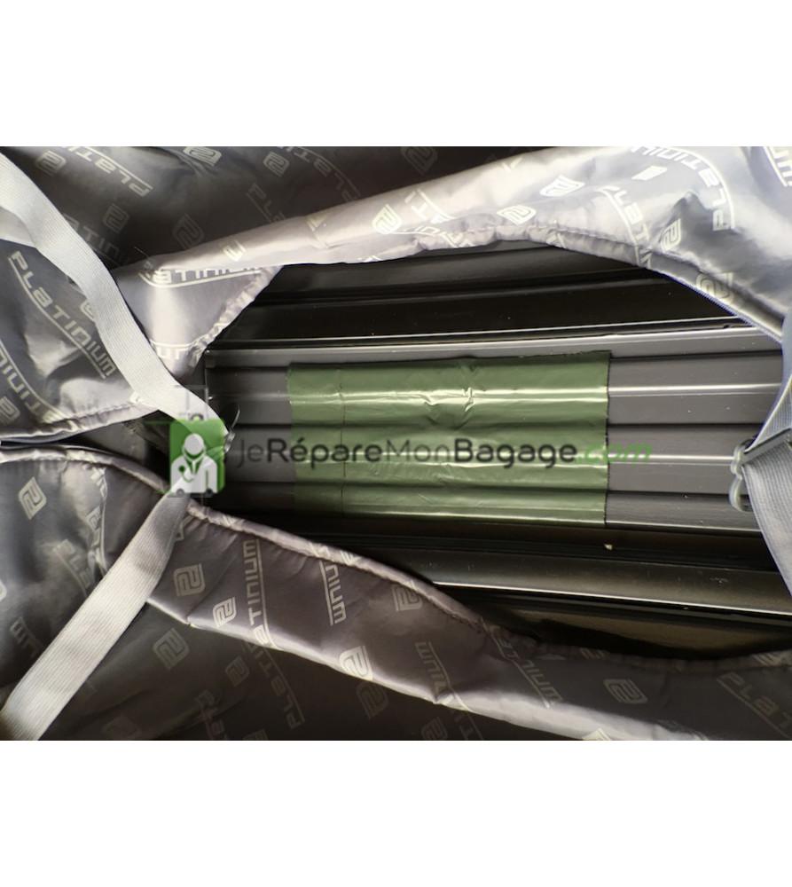 réparation de coque fendue de bagage