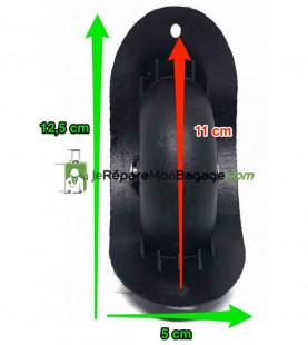 Eléments de poignée de valise E020 rouge