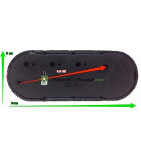 Double roulettes de bagage R415 noir