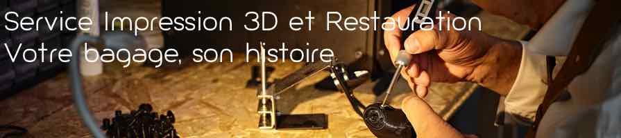 Pièces détachées de bagages en impression 3D